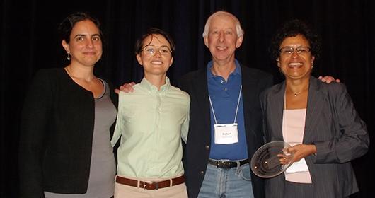 Juvenile Law Center wins Gloria Jenkins Award. From left: Jessica Feierman, Elizabeth-Ann Tierney, Robert Schwartz and Raquel Mariscal.