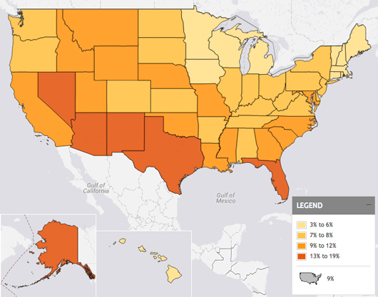 Percentage of Children Without Health Insurance (2011)
