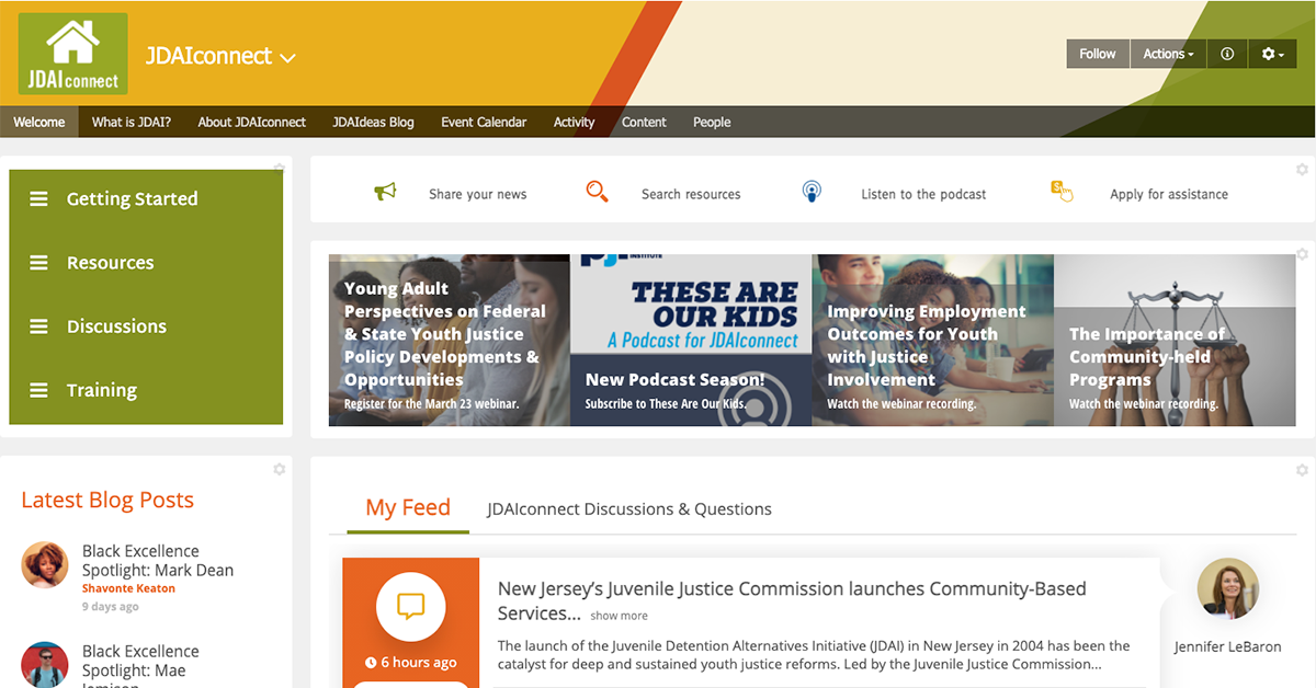 JDAIconnect homepage